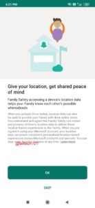 Microsoft Family Safety App location sharing