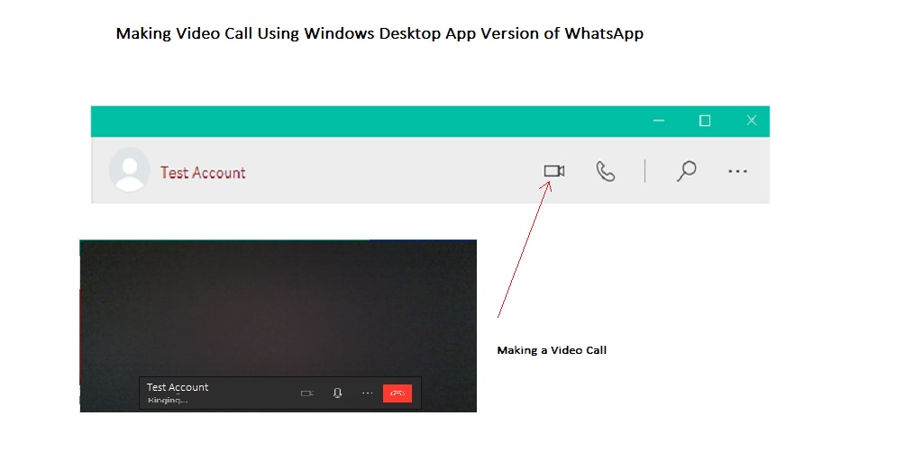 How to Make video call via windows desktop app for whatsapp
