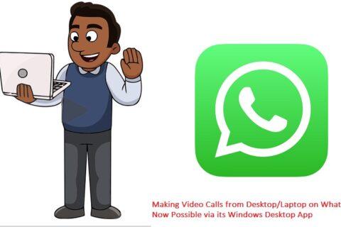 Whatsapp video call on PC laptop windows